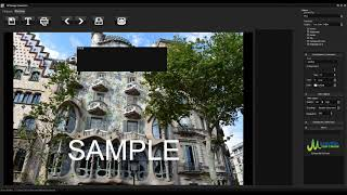Add watermark to photo with GP image converter