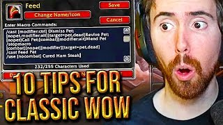 Asmongold Reacts To 10 Handy Tips & Tricks For Classic WoW From Madseasonshow (Episode 3)