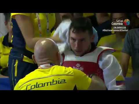 Taekwondo XVIII Juegos Bolivarianos 2017 Moises Molinares(COL) vs Carlos Rivas(VEN)