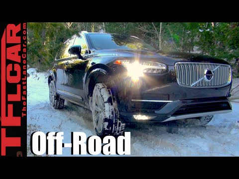 2016 Volvo Xc90 T6 Snowy Off Road Review Will It Go In The Snow
