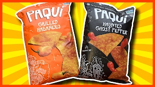 Haunted Ghost Pepper VS PAQUI Grilled Habanero Paqui Corn Chips