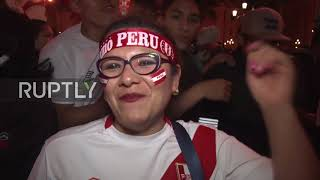 Peru: Thousands celebrate in Lima as Peru draw with N. Zealand in World Cup qualifier