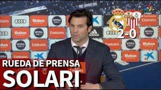 Real Madrid 2 Sevilla 0   Rueda de prensa de Solari   Diario AS