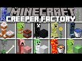 Minecraft CREEPER FACTORY MOD / HELP HUNDREDS OF CREEPERS DESTROY MARK THE ZOMBIE HOUSE !! Minecraft