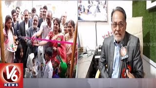 Students Throng To Mount Litera Zee School To Watch Science Fair | Hyderabad | V6 News