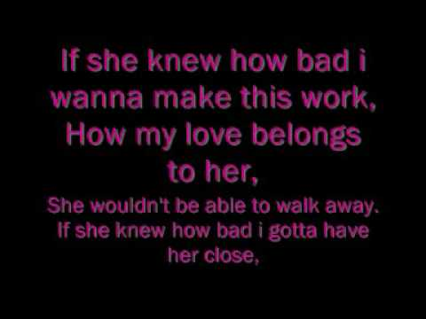 Lemar-if she knew lyrics