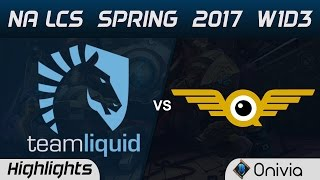 TL vs FLY Highlights Game 1 NA LCS Spring 2017 W1D3 Team Liquid vs FlyQuest