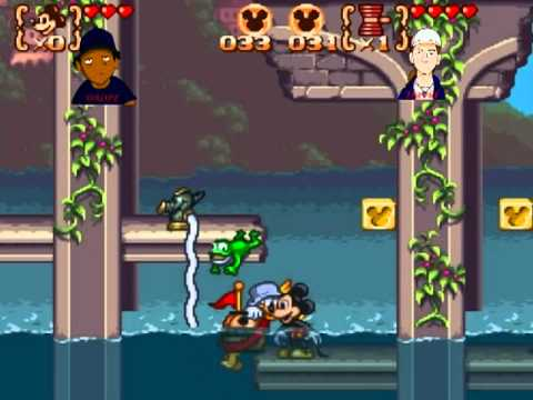 Mikey Donald 3 Snes Gameplay Co Op 2 Players Con Los Tpg