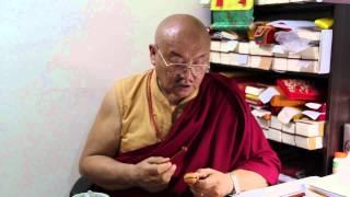 Most Ven. Lamkyen Gyalpo Rinpoche demonstrated recite the Ushnisha Vijaya Dharani