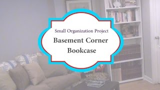 Small Project: Basement Corner & Bookcase