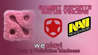 Gambit vs NaVi | Losers' Finals - WePlay! Valentine Madness