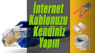 İnternet Kablosu Yapmak RJ45 Ethernet Lan Kablosu - How to make rj45 network cable