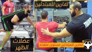 جدول تدريب للظهر كامل للمبتدئين مستوى متقدم لشد الجسم  وتقوية العضلات للرجال والنساء gym Cairo