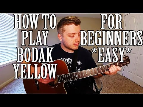 How to Play Bodak Yellow by Cardi B on Guitar *EASY*