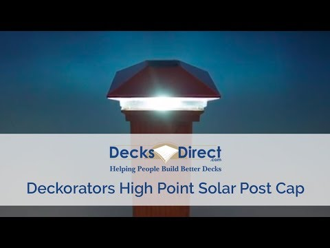 High Point Solar Post Cap by Deckorators