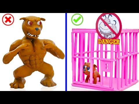 SUPERHERO BABY SAVES WILD PUPPY DOG 馃挅 Play Doh Cartoons For Kids