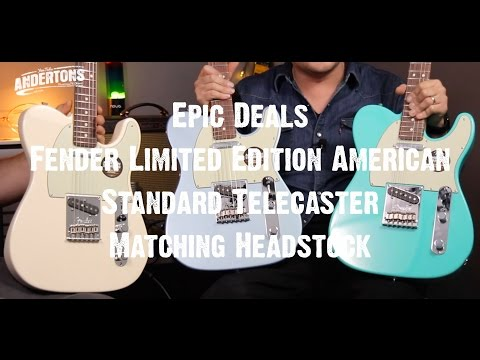 Epic Deal - Fender Limited Edition American Standard Telecaster Matching Headstock