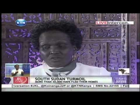 Jeff Koinange live with Rebecca Garang the wife of the former founded father of South Sudan