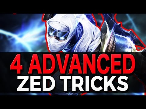 4 ADVANCED ZED TRICKS  Outplay Techniques  League of Legends