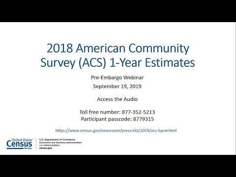 2018 ACS 1-Year Pre-Release Webinar