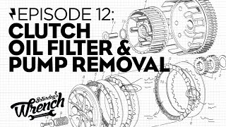 Saturday's Wrench Ep.12: Honda Cb350 Build - Clutch, Oil Filter & Pump Removal