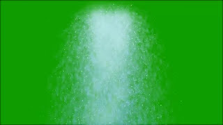 green screen water falling effect