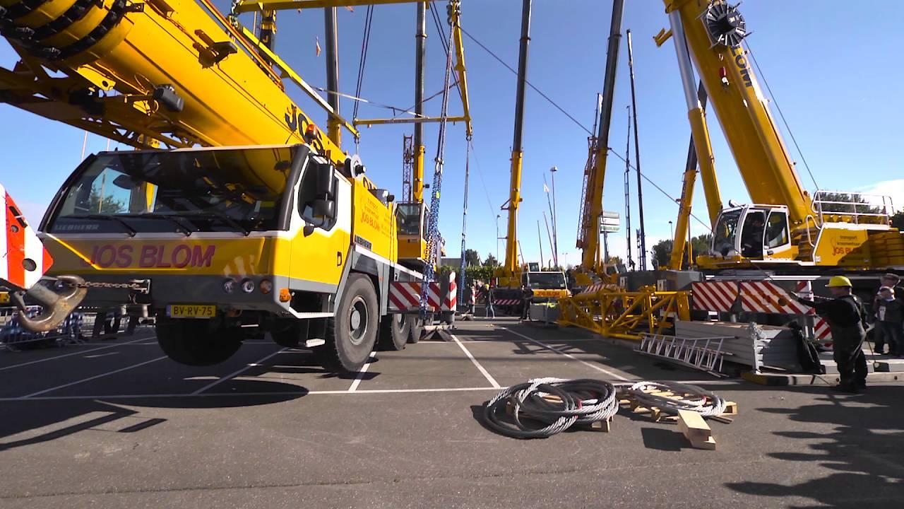Liebherr LTM 1300-6 2 Lifting Liebherr LTM 1130-5 1, Jos Blom Mackdag 2016,