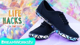 Holographic Sneakers + More Shiny Hacks | LIFE HACKS FOR KIDS