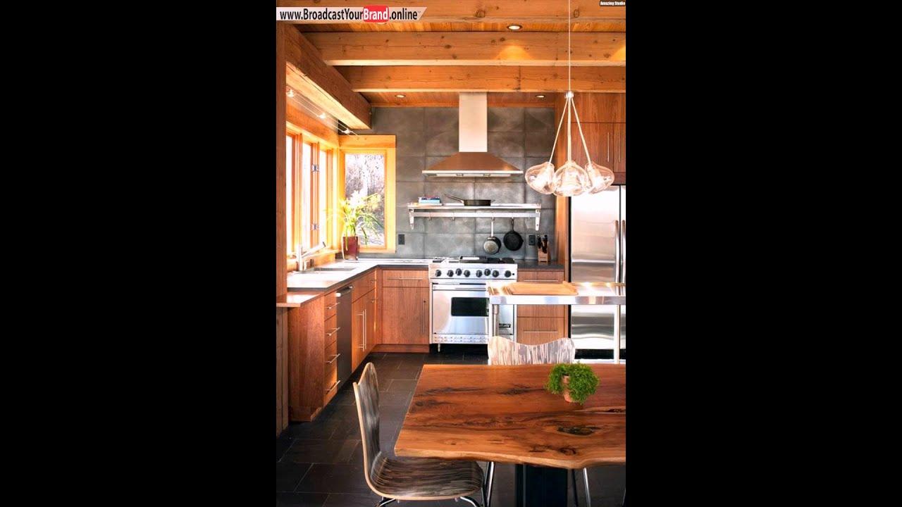 Landhaus küche rückwand esstisch massivholz platte rückwand   youtube