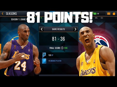 SCORING 81 POINTS IN ONE GAME OF NBA LIVE MOBILE 19!!!