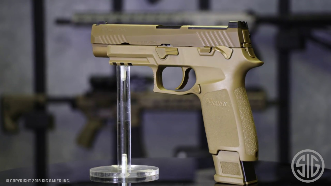 First Look at the civilian versions: SIG Sauer P320-M17 including
