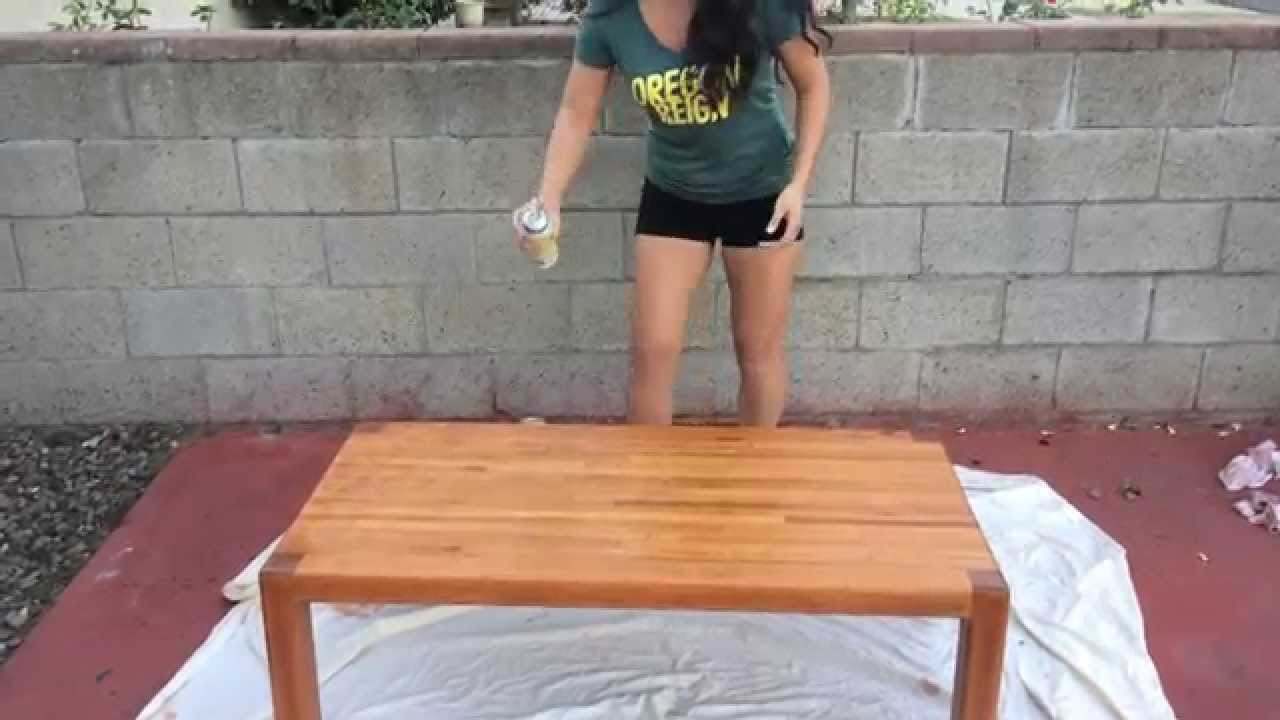 Diy Staining A Coffee Table