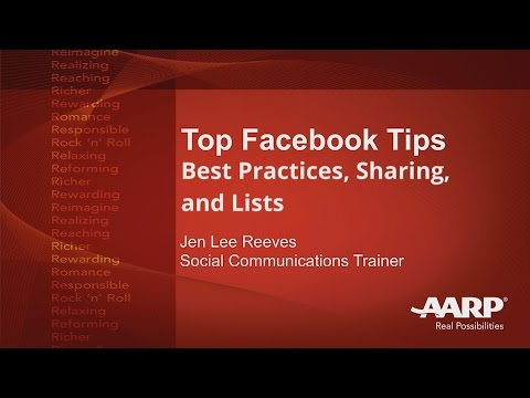 Top Facebook Tips - Best Practices, Sharing, and Lists | AARP