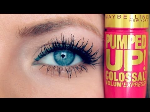 Review & Demo: Maybelline Pumped Up Colossal Mascara - YouTube