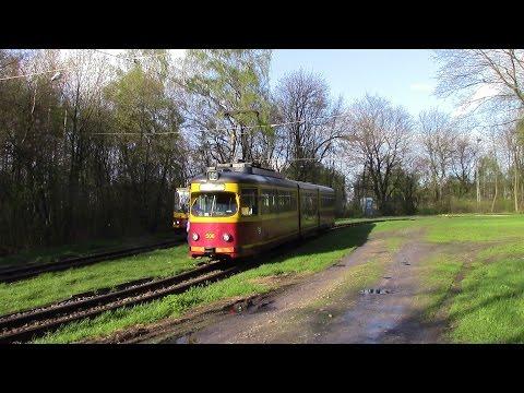 Trams in Łódź Route 46 Ozorków ⇒ Stoki Düwag GT8N