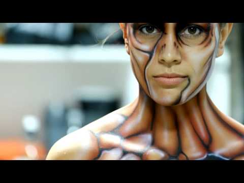 Body Painting With Rudy Campos! - Getting Ready For A Photoshoot