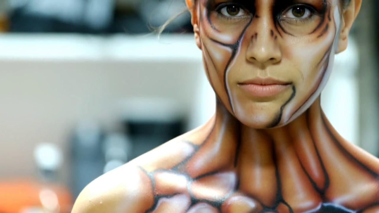 Body paint video start to finish