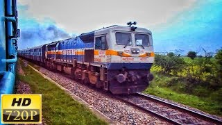 Rampaging IZN WDP-4D knocks MPS | 15013 Ranikhet Exp | Onboard 12181 Dayodaya Exp | INDIAN RAILWAYS