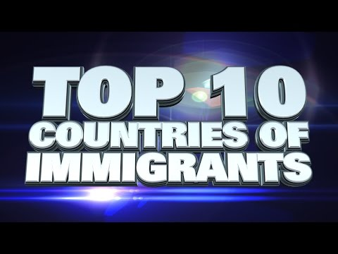 10 countries with the most immigrants 2014