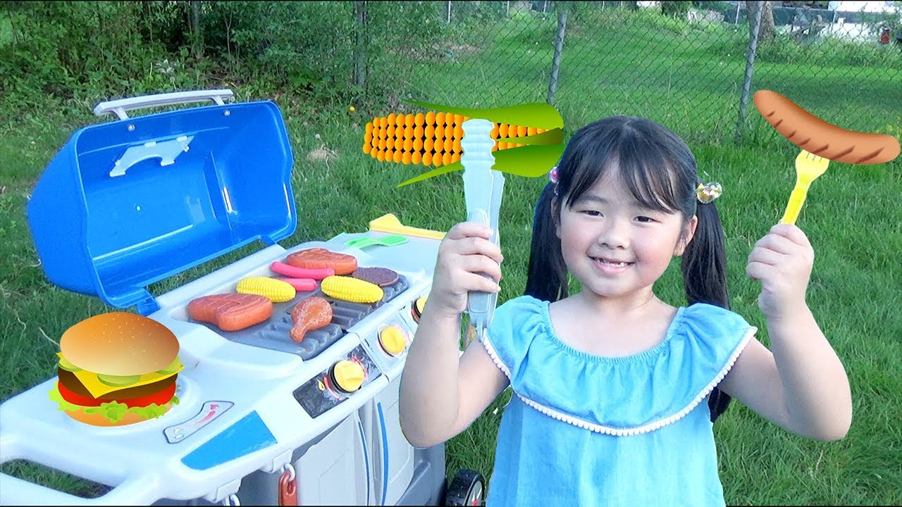 Outdoor Cooking With Bbq Grill Play Set