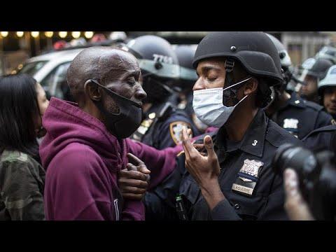 Sokağa çıkma yasağı New York'ta ırkçılık karşıtlarını durduramadı