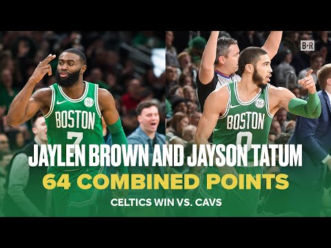 Jaylen Brown and Jayson Tatum Score Combined 64 Points to Beat Cavs | NBA Celtics Highlights