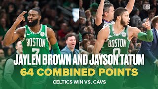 Jaylen Brown and Jayson Tatum Score Combined 64 Points to Beat Cavs | NBA Celtics Highlights