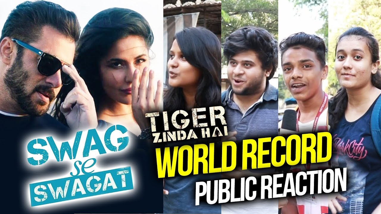 salman क swag se swagat ग न क world record public reaction tiger zinda hai