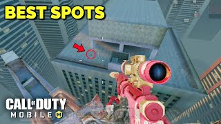 TOP BEST SECRET SPOTS & GLITCHES in HIGH RISE MAP!! CALL OF DUTY MOBILE (SEASON 8)