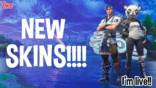 NEW SKINS!!! // Pro Fortnite Console Player // 300+ Wins // Vbuck Giveaway at 200 Subs !