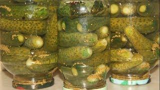 Огурцы маринованные с горчицей / Огурцы без стерилизации