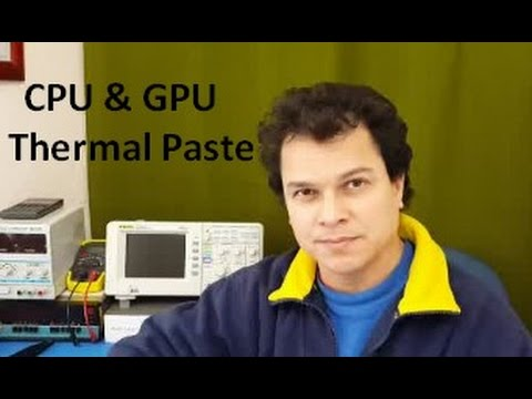 How to apply thermal paste / contact heat sink compound to a CPU and video chip