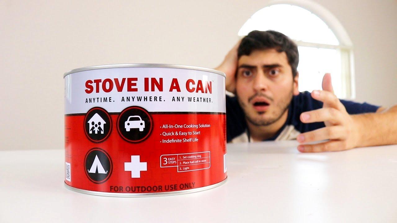 Não parece, mas dentro dessa lata tem um FOGÃO DE SOBREVIVÊNCIA !!