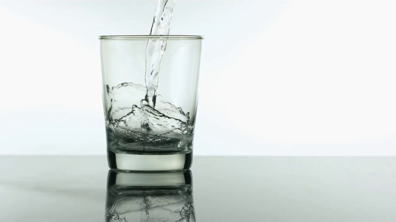 freedio water pouring into glass slow motion royalty free hd